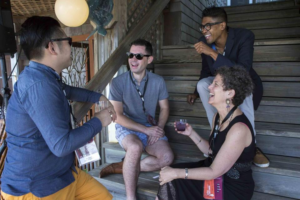 From left: Bao Nguyen, producer Josh Watson, director Hernando Bansuelo, and Laurie Kahn.